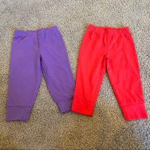 Bundle of 2 baby girls pants Sz 12 months